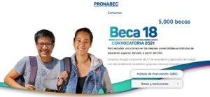 beca18 peru